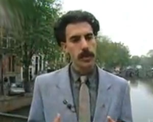 Thumb for Borat visits Amsterdam