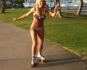 Mallory Rollerskating