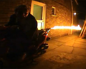 Direct Bikes Scooter Flame Thrower