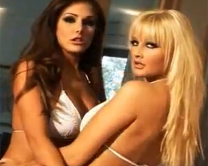 Lucy Pinder and Michelle Marsh