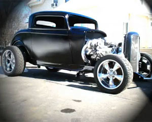 1932 Ford Twin Turbo Coupe Burnout