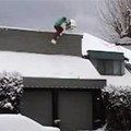 Snowboarder on the Roof