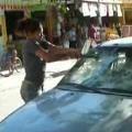 Angry Girlfriend Destroys Car