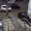 Parking Lot Attendant Forgets The Handbrake