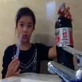 Another Mentos and coke prank