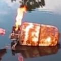 Shooting a propane tank