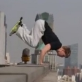 Handstand on the edge