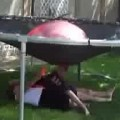 Kids Drenched By Giant Water Balloon