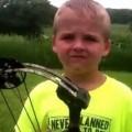 Little Kid Makes Impressive Archery Shot