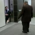 Magician Cut in Half Elevator magic trick prank