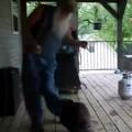 Hillbilly Dances with A Raccoon