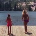 Girl Falls Off Dock