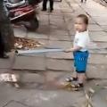 Toddler Defends Grandma