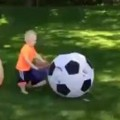 Dad Pisses Off His Boy With a Soccer Ball