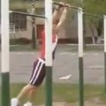 Backyard Gymnast Gets A Lesson In Pain