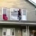 Girl Instantly Regrets Jumping Off The Roof