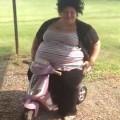 Chubby Diva Falls Off Kid's Bike