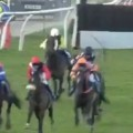 Jockey Goes Airborne After Falling Off His Horse