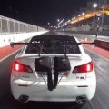 Lexus Turbo Goes Airborne And Jumps The Fence