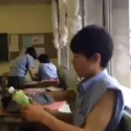 Kid Throws Out Trash, Japanese Style