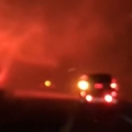 Fire Tornado Rips Across Road