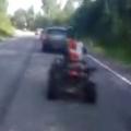 ATV Head on Collision with a Car