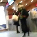 Woman Freaks Out In Ferry Terminal