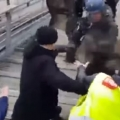 French Yellow vest boxer vs Macron Forces