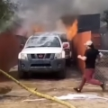 Man rushes into burning house to save his dog