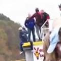 Base Jumper Slips Off Bridge