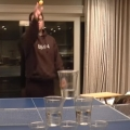 Greatest pong trick shot you'll ever see?