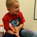 Kid's Hilarious Reaction To Getting Cast Off