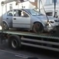 Man Drives His Car Off Tow Truck To Avoid Fine