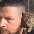 Guy finds lost kitten, bikes around the world with her for two years