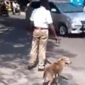 Good Guy Policeman Looks Out For Dog