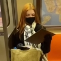 Artist paints woman on NYC subway and she promptly cries