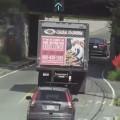 Low Hanging Bridge Obliterates Box Truck