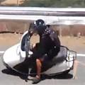 Honda Elite Scooter Crashes